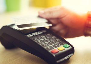 caisse enregistreuse avec terminal de paiement sans contact