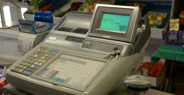 caisse enregistreuse avec scanner intégré